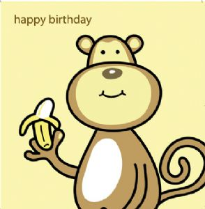 Animal Magic Birthday Card - Monkey